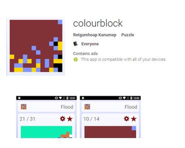 App Colourblock enthält Schädling Dvmap