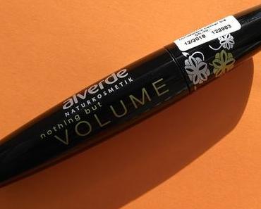 Alverde - Nothing but Volume Mascara schwarz 010 +  alverde NATURKOSMETIK Lippenstift Color & Care 08 Cherry