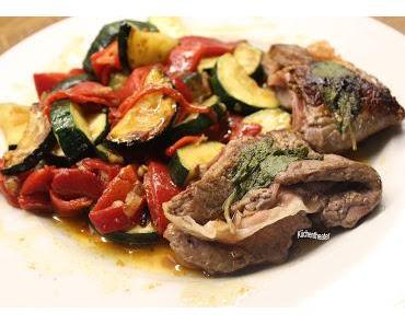 Saltimbocca mit viel Gemüse