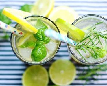 Es ist zu heiß - Rosmarin-Limetten und Basilikum-Zitronen Limonaden-Sirup