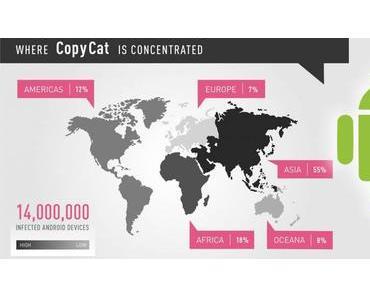 Android-Malware CopyCat infizierte schon 15 Millionen Geräte