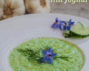 Samstagseintopf: Kalte Gurkensuppe mit Joghurt