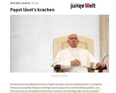 Linksextreme feiern Papst als einen Herz-Jesu-Kommunist
