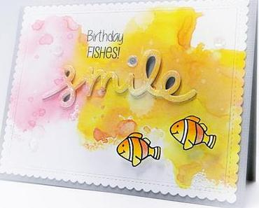Birthday Fishes | SMILE { Distress Oxide Ink's }