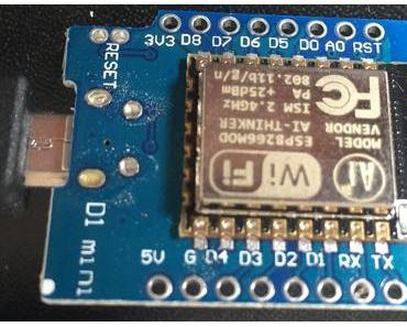 WeMos D1 Quicktest: ESP-8266EX D1 Mini WIFI Board mit Arduino