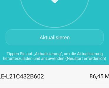 Update ALE-L21C432B602 für Huawei P8 lite