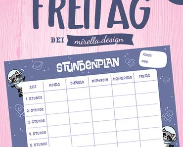 Freebie Freitag Ninos Stundenplan