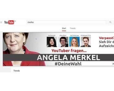#deinewahl 4 Youtuber fragen Angela Merkel- was soll man davon halten?