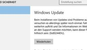 Update KB4034658 Windows 1607 macht Probleme