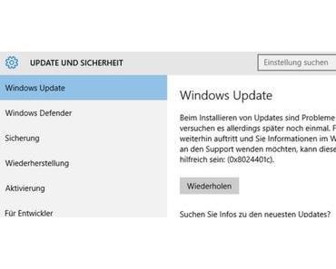 Update KB4034658 für Windows 10 1607 macht Probleme