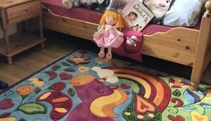 Unser Einhorn Teppich: mehr Glitzer Mädchenzimmer