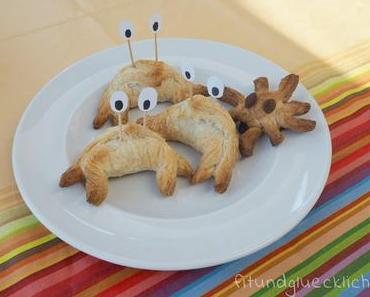 Krabben aus Croissants für die Meeresparty
