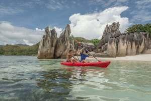 Per Kreuzfahrt Kajak durch die Inselwelt der Seychellen