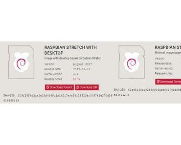 Raspbian hat auf Debian 9 umgestellt