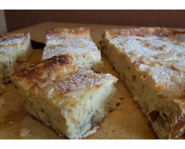 Käsekuchen ohne Boden mit Mandeln