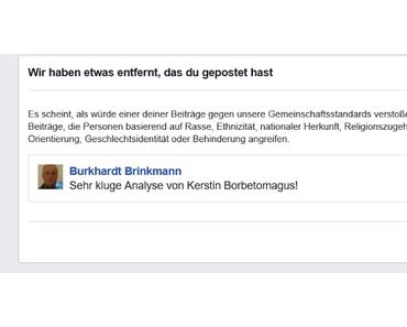 In der Strafkolonie des Linksfaschismus: Facebook-Sperre - für? Siehe Fotos!