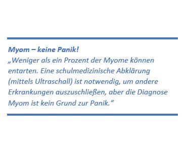 Diagnose: Myom – kein Grund zur Panik