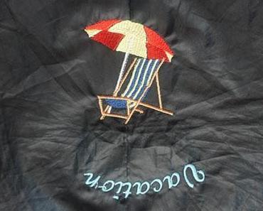 Wie bestickt sich ein Regenschrim? Upcycling-Projekt
