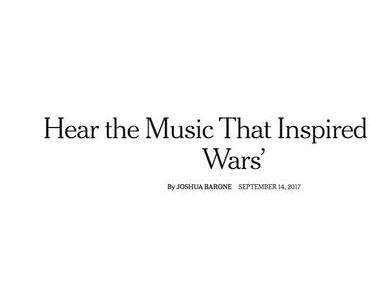 John Williams holt sich für seine STAR WARS Musik Inspiration in der Klassik