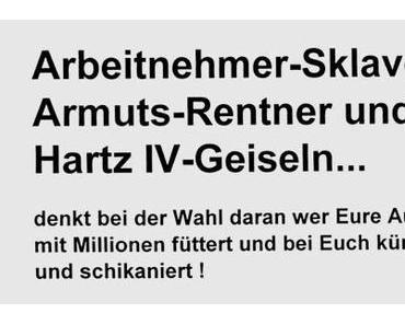 """""""Für ein Deutschland, in dem wir gut und gerne leben""""? -> gehbehinderte Rentnerin, vorbestraft wegen Flaschensammeln?"""