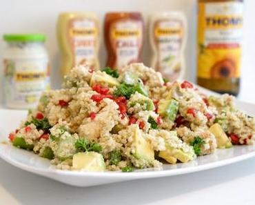 Biancas Blog kocht: Quinoa-Hähnchen-Salat - mit veganer THOMY Salatcreme und THOMY Sonnenblumen-Öl