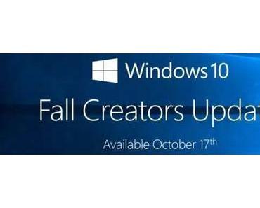 Ab heute verteilt Microsoft das Fall Creators Update