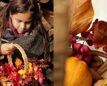 Basteln mit Kindern - Herbstblätter konservieren