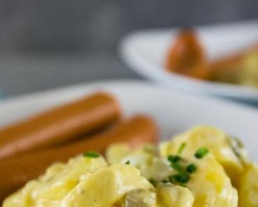 Leichter (norddeutscher) Kartoffelsalat mit Würstchen