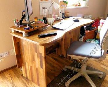 Aus einer Arbeitsplatte wird ein Schreibtisch #WorktopExpress #DIY #Gewinnspiel
