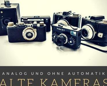 Alte Kameras – Technische Optik für Punkt, Punkt, Punkt