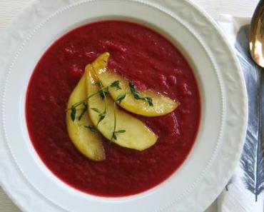 Rote Bete Suppe mit Ingwer und Birne