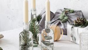 Weihnachtliche Flaschenpost
