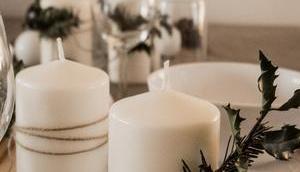 Natürliche Tischdeko Weihnachten Blogmas