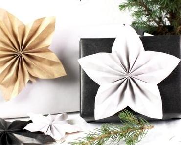 DIY Weihnachtsstern Geschenk-Topper | Cuchikalender 2017 #Geschenkidee