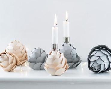 DIY Winterdeko: Papier-Tannenzapfen als Kerzenhalter