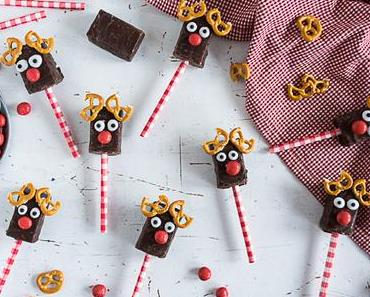 Rudi the Red nosed Reindeer Marshmallow am Stiel