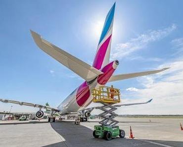 Eurowings fliegt mit A340 nach Mallorca und Wien