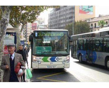Kostenloser Bus in der Revetla de Sant Sebastià