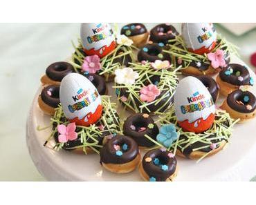 Für die Ostertafel: Donut Oster-Nester mit Überraschungseiern