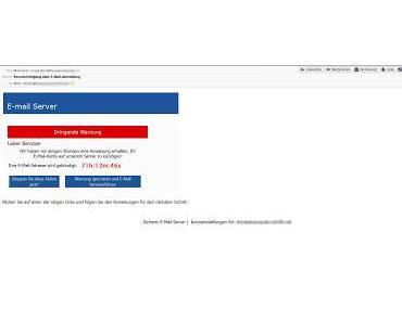 Löschung meiner Email Adresse steht kurz bevor