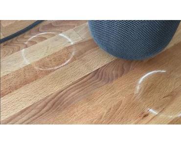 Apples HomePod hinterlässt weiße Ringe auf Holz