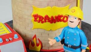 Eine Torte Feuerwehrmann