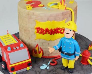 Eine Torte mit Feuerwehrmann Sam