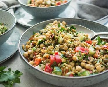 Grünkernsalat griechischer Art