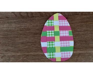 Ostereier aus gewebten Papierstreifen