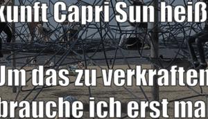 Capri Sonne soll Zukunft heißen....