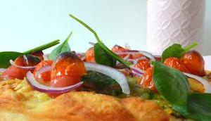Vegan gratinierte Pfannen-Pizza Spinat