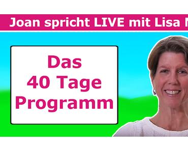 Das große LISA-Interview!  Erlebe die Urheberin des 40 Tage Programms LIVE auf Facebook.