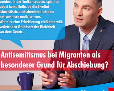 Keine Sonderbehandlung für antisemitische Straftaten von Migranten - Seehofer und seine leeren, populistischen Versprechen