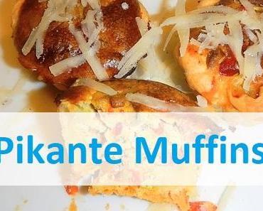 Pikante Muffins mit Tarte - Teig